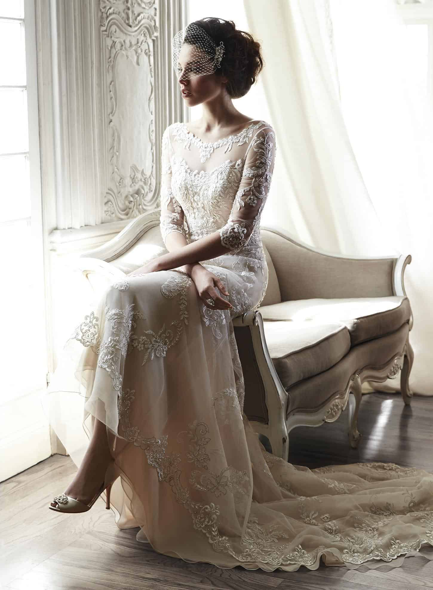 2015 Trend: Nude Lace Wedding Dresses