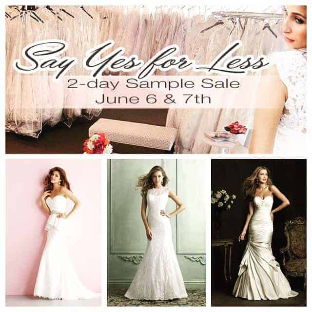 SAY YES FOR LESS SAMPLE SALE