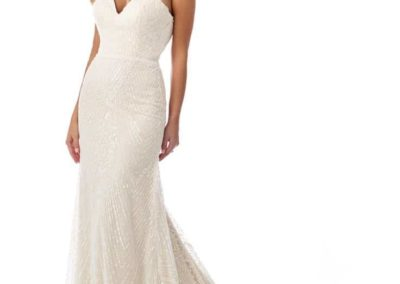 Lace-Heart-Neckline-Strapless-Gown