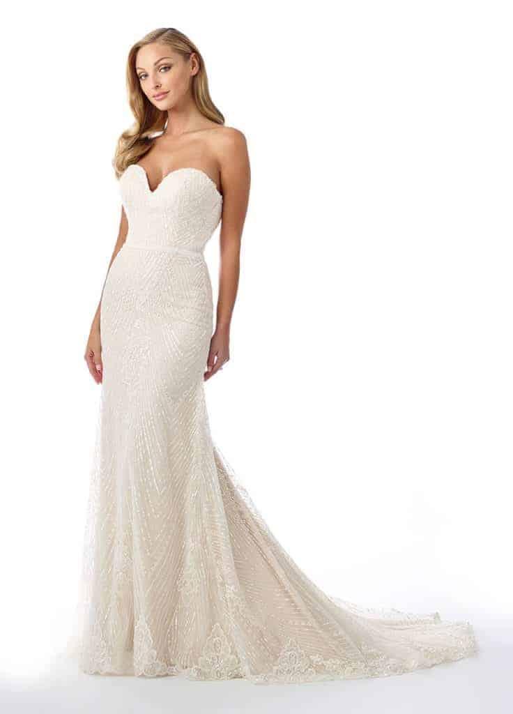 Lace-Heart-Neckline-Strapless-Gown