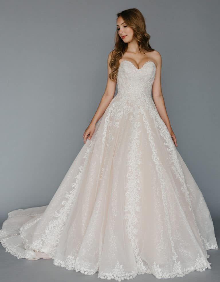 Romatic-Lace-Strapless-Ballgown