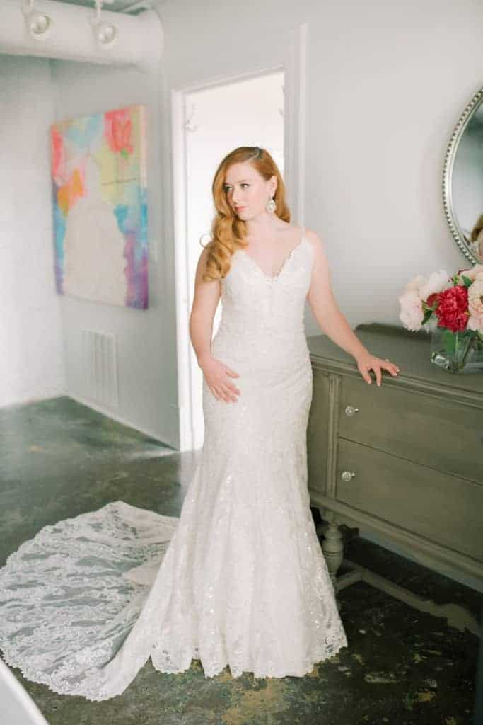 Skinny-Strapped-Lace-Fitted-Gown