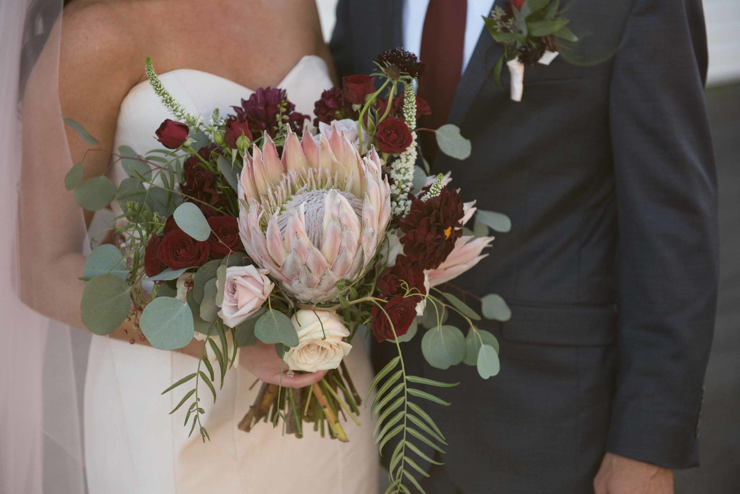 cactus-bouquet-vendors-postpone-wedding