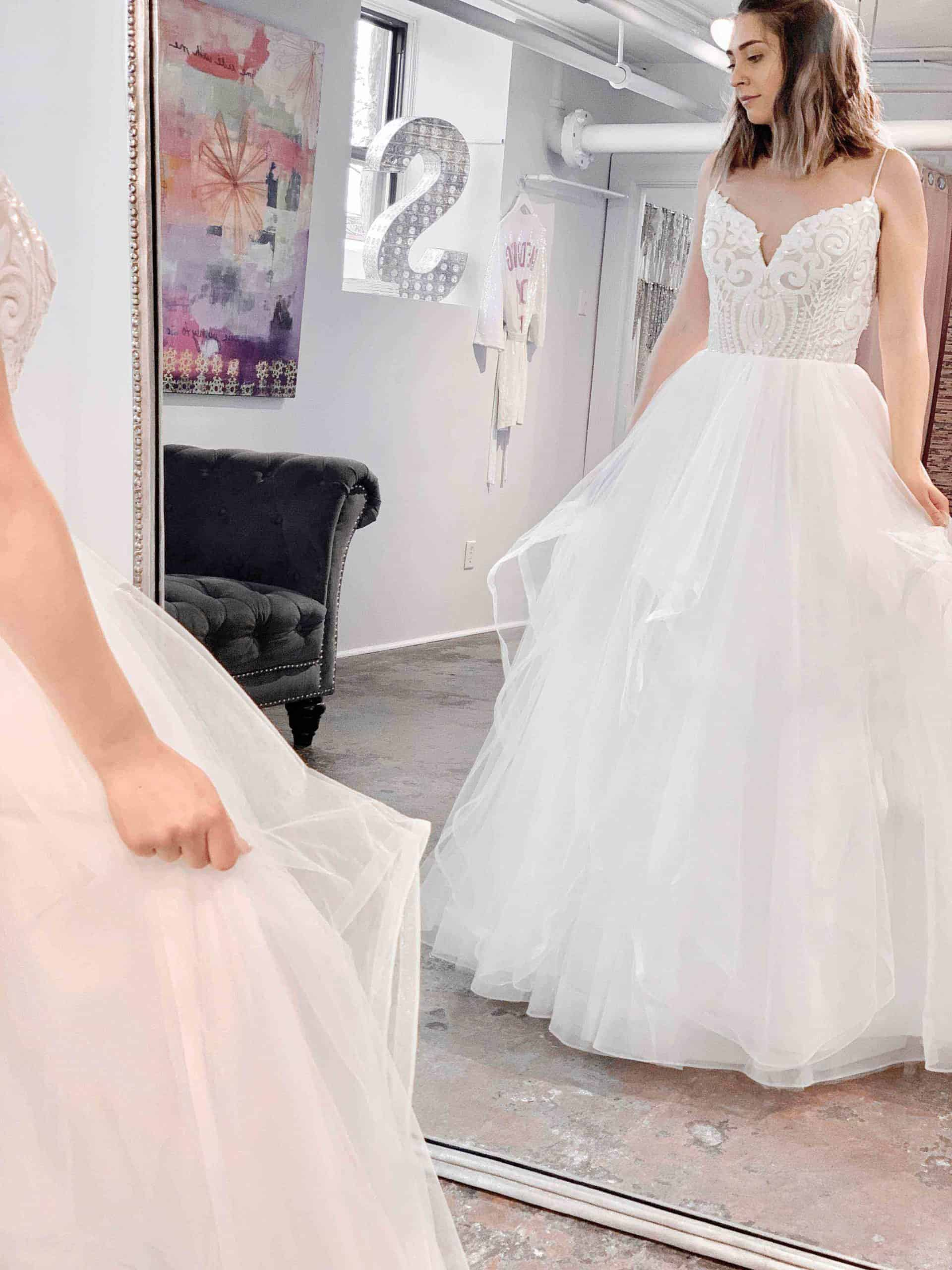 Ballgown-sweetheart-Tulle skirt -beaded top