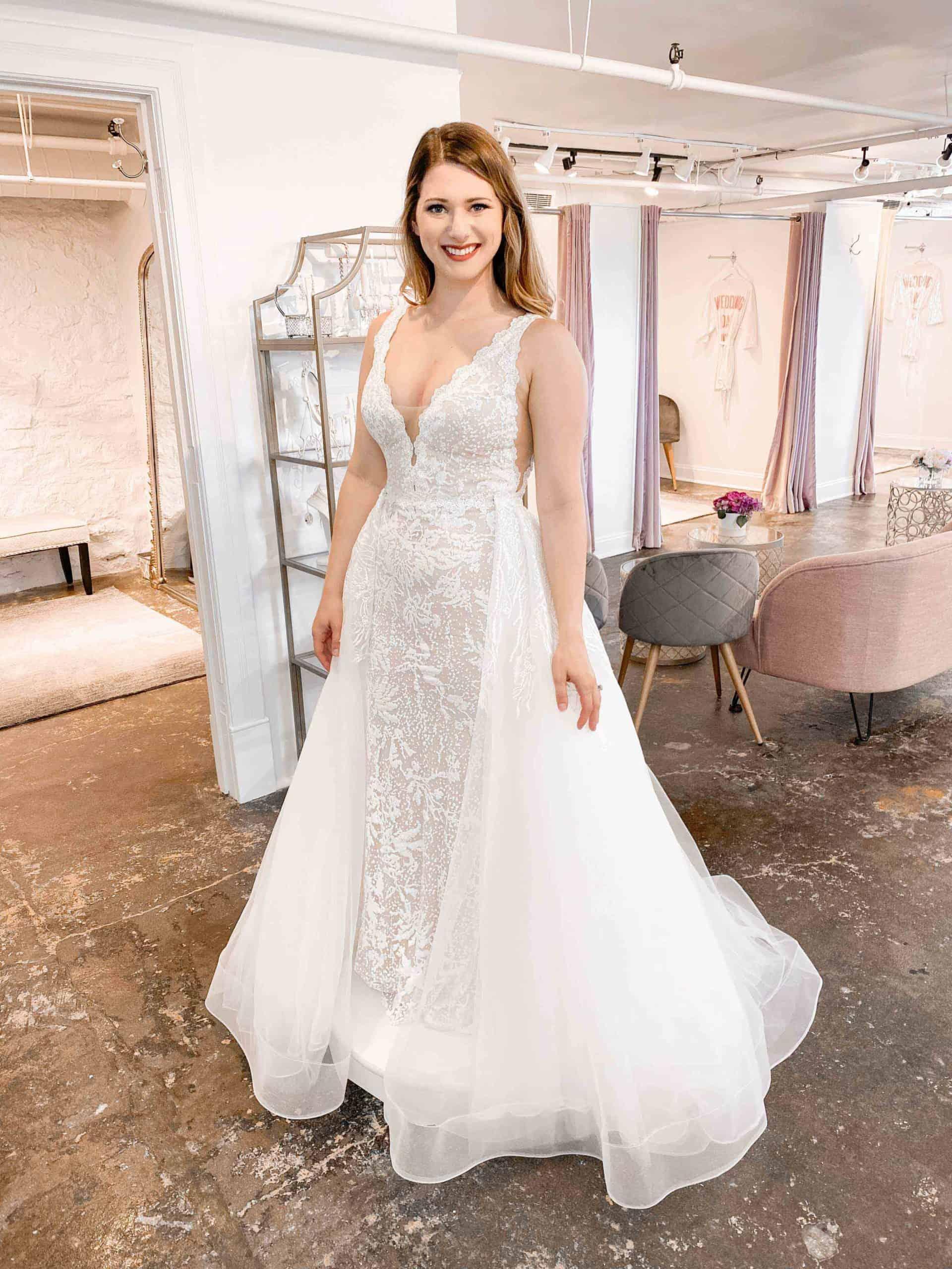 sheath- ballgown - lace- beading- detachable skirt- beaching wedding