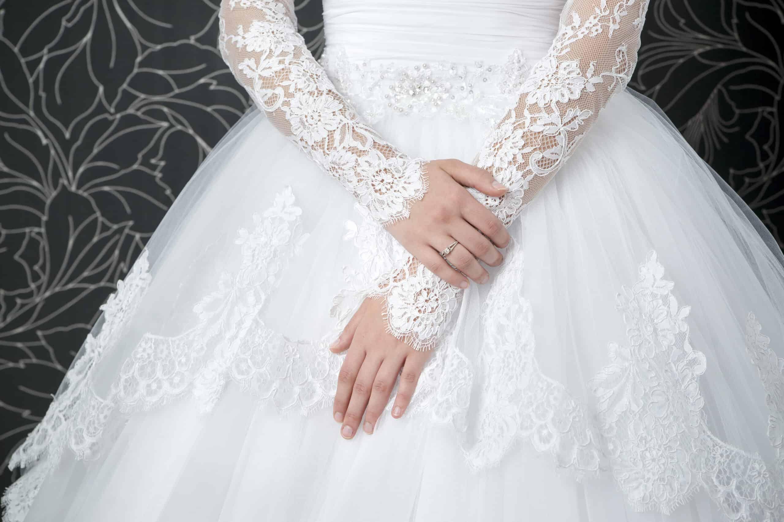 wedding dress with sleeves